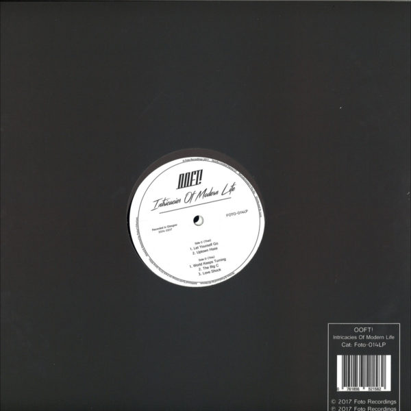 """""""Recorded over a period of three years, Intricacies Of Modern Life sees Glasgow DJ and producer OOFT! finally complete his first long-player. The 10-track 2x12"""""""" takes in various moods and tempos whilst staying rooted in OOFT!'s low-slung house style. Released on his own Foto Recordings imprint, this marks not just the debut album for the artist but also the label. Lovingly mixed and mastered by Rob Etherson."""